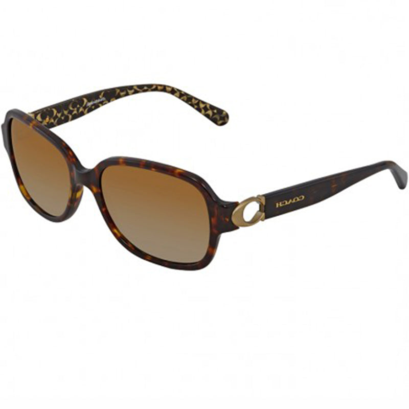 Coach Sunglasses Dark Tortoise w/Brown Polarized Lens Women