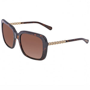 Coach Sunglasses Dark Tortoise/Gold w/Brown Gradient Lens Women