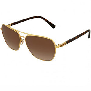 Coach Sunglasses Gold w/Brown Gradient Lens Unisex