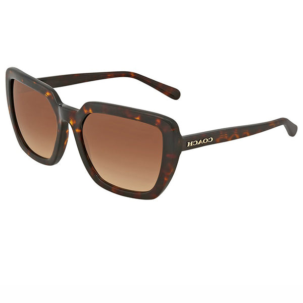 Coach Sunglasses Dark Tortoise w/Brown Gradient Lens Unisex