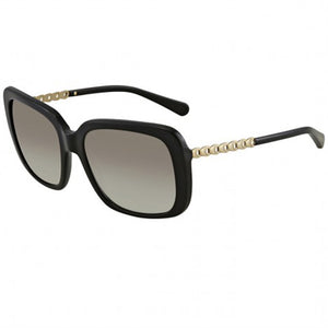 Coach Sunglasses Black/Gold w/Grey Gradient Lens Women