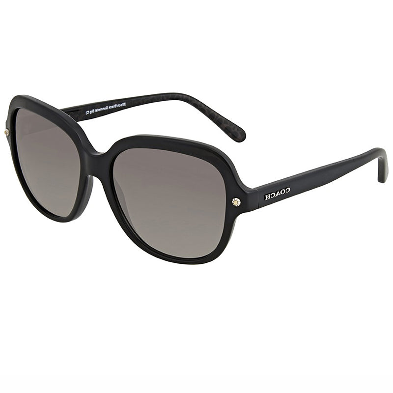 Coach Sunglasses Black w/Grey Gradient Lens Unisex