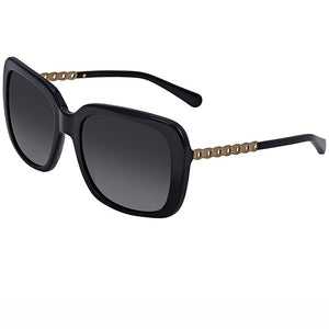Coach Sunglasses Black/Gold w/Grey Polarized/Gradient Lens Women