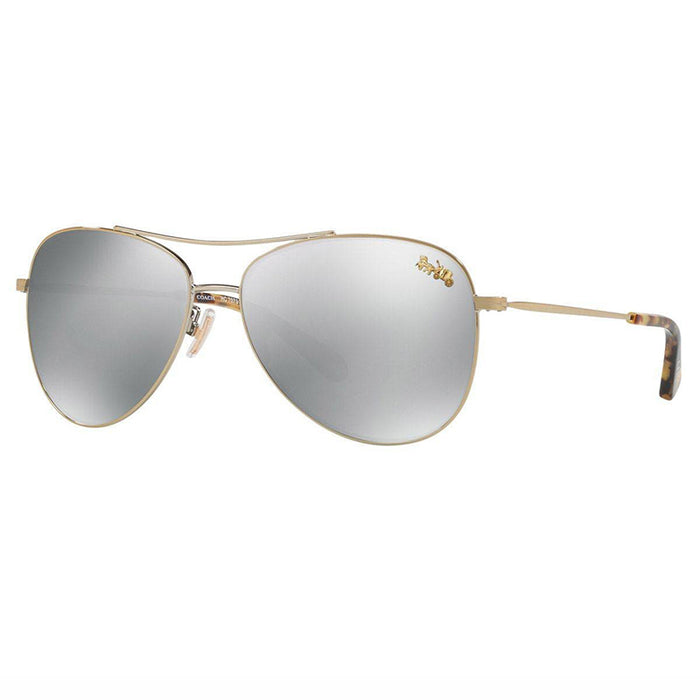 Coach Sunglasses Gold w/Silver with Coach Buggy Polarized Lens
