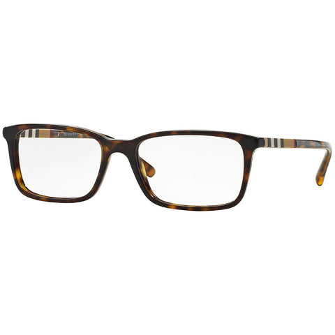 Burberry Rectangular Unisex Eyeglasses Dark Havana Frame w/Demo Lens BE2199 3002