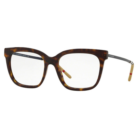 Burberry Women's Square Eyeglasses Dark Havana W/Demo Lens BE2271 3002