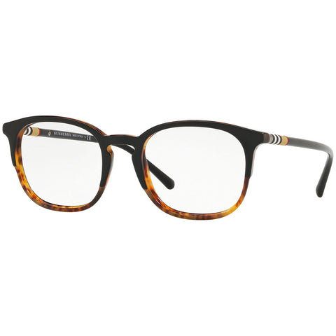 Burberry Men's Square Eyeglasses Black Havana w/Demo Lens BE2272 3721