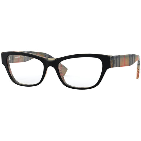 Burberry Cat Eye Women's Eyeglasses Black Frame w/Demo Lens BE2302F 3806