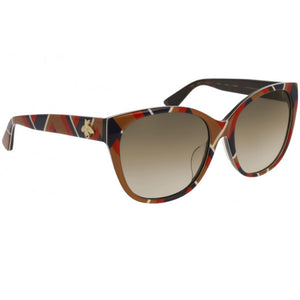 Gucci Women's Square Sunglasses Brown Lens - Frame View