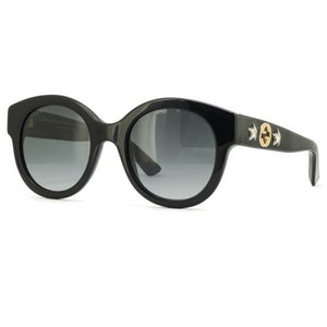 Gucci Round Women Sunglasses Black with Grey Polarized Lens