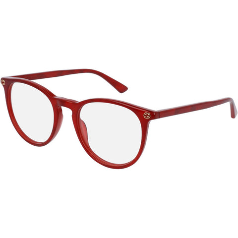Gucci Round Women's Eyeglasses Red W/Demo Lens GG0027O 004