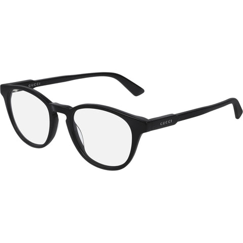 Gucci Round Men's Eyeglasses Black W/Demo Lens GG0491O 001
