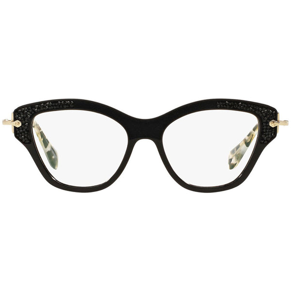 Miu Miu Women's Cat Eye Eyeglasses Black w/Demo Lens MU07OV 1AB1O1