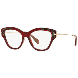 Miu Miu Cat Eye Women's Eyeglasses Red w/Demo Lens MU07OV TKW1O1
