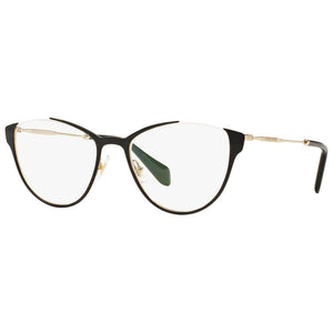 Miu Miu Cat Eye Women's Eyeglasses Black w/Demo Lens MU51OV QE31O1