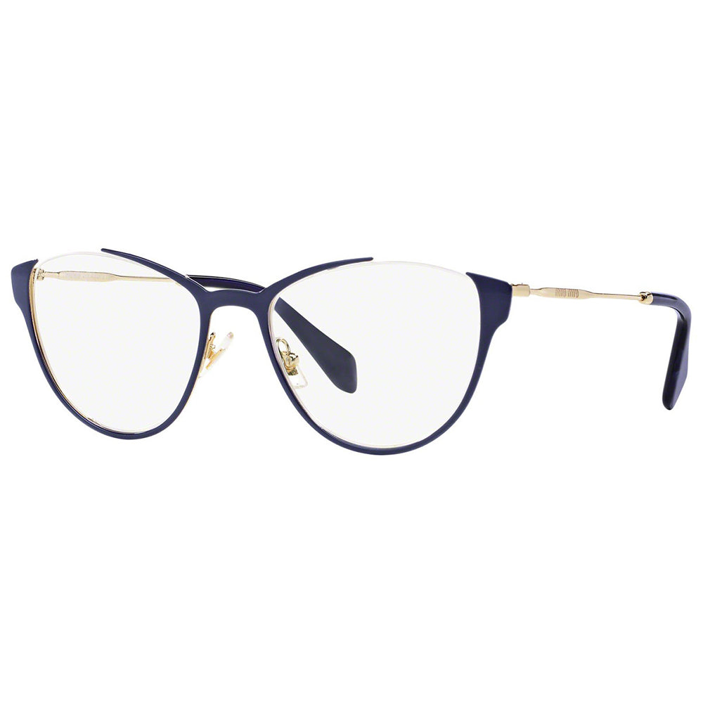 Miu Miu Cat Eye Women's Eyeglasses Blue w/Demo Lens MU51OV UE61O1