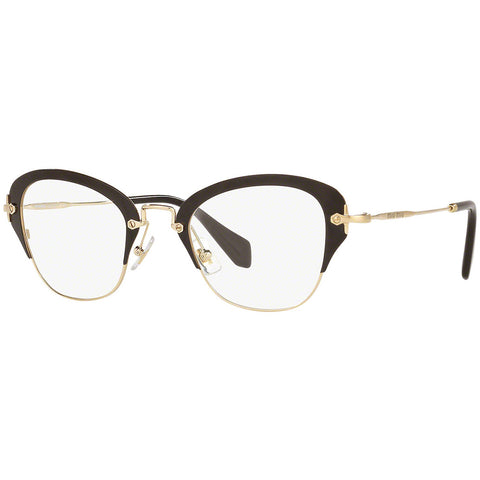 Miu Miu Cat Eye Women Eyeglasses Black  w/Demo Lens MU53OV 1AB1O1