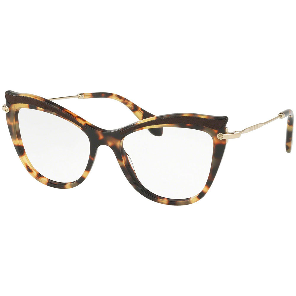 Miu Miu Women's Cat Eye Eyeglasses Light Havana w/Demo Lens MU06PV VIF1O1