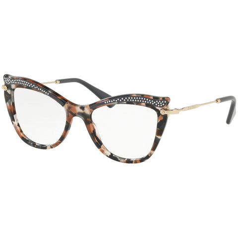 Miu Miu Women's Cat Eye Eyeglasses Grey Havana w/Demo Lens MU06PV 79A1O1