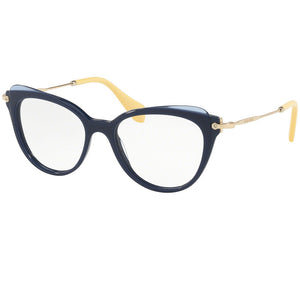 Miu Miu Cat Eye Women Blue Eyeglasses - Demo Lens