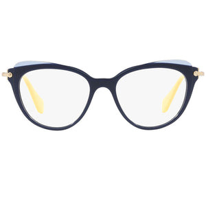 Miu Miu Cat Eye Women Blue Eyeglasses Demo Lens | Front