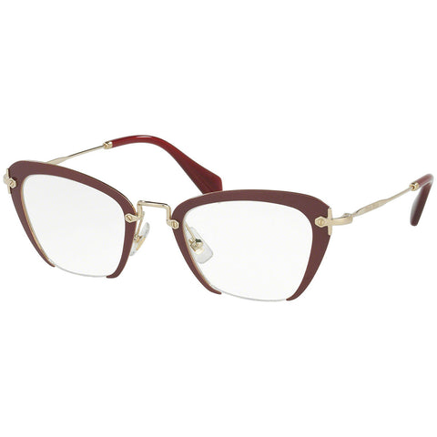 Miu Miu Women's Cat Eye Eyeglasses Amaranth W/Demo Lens MU54OV UA51O1