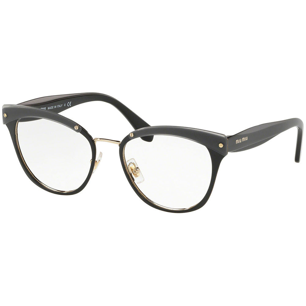 New Authentic Miu Miu Women's Eyeglasses W/Demo Lens MU54QV-1AB1O1-50
