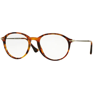 Persol Round Men's Eyeglasses Light Havana w/Demo Lens PO3125V-108