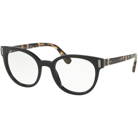 Prada Cat Eye Eyeglasses Women's Black w/Demo Lens PR06TV 1AB1O1