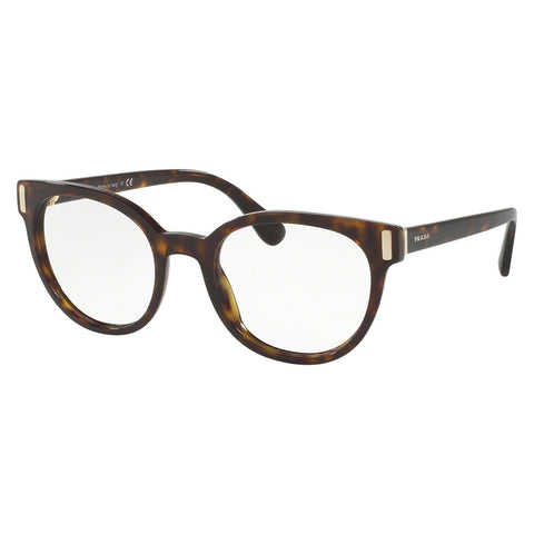 Prada Women's Cat Eye Eyeglasses Havana w/Demo Lens PR06TV 2AU1O1