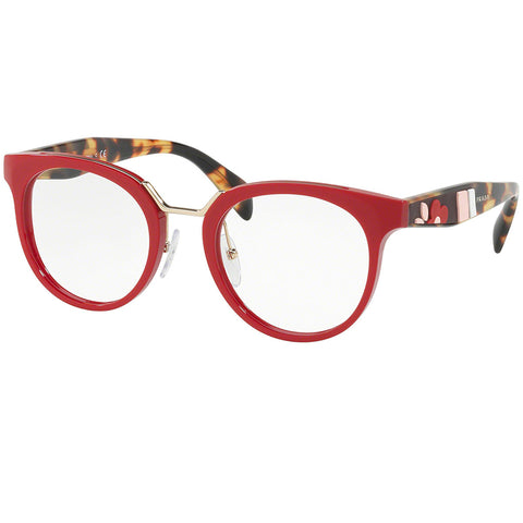 Prada Eyeglasses Red w/Demo Customisable Lens Women PR03UV-UA41O1-51