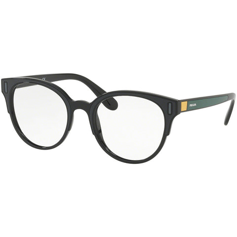 Prada Round Eyeglasses Black / Grey / Yellow w/Demo Lens PR08UV 07E1O1