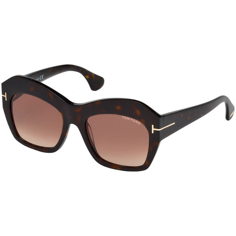 Tom Ford Emmanuelle Women's Sunglasses With Brown Gradient Lens TF0534/S 52F