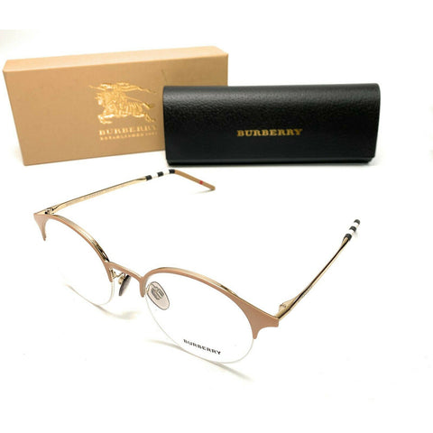 Burberry Round Women's Eyeglasses Beige Frame w/Demo Lens BE1328 1236