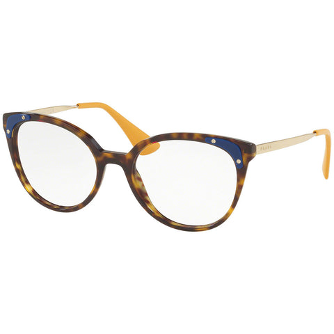 Prada Cat Eye Women's Eyeglasses Havana Frame w/Demo Lens PR12UV 2AU1O1