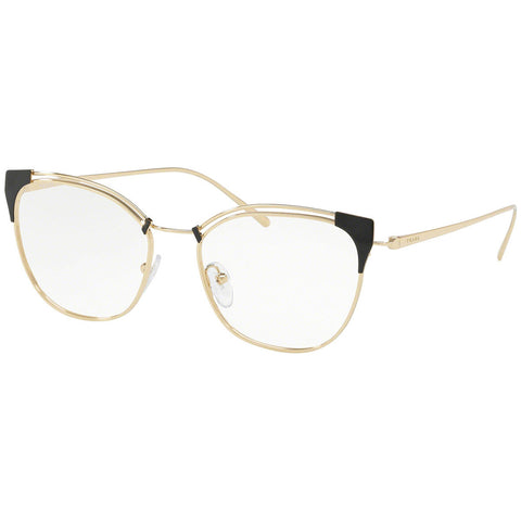Prada Cat Eye Eyeglasses Women's Grey / Pale Gold w/Demo Lens PR62UV YEE1O1