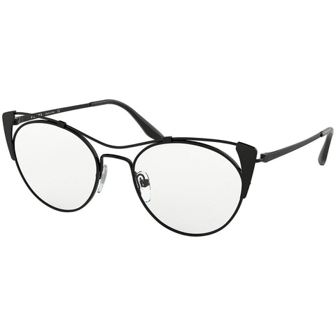 Prada Cat Eye Women's Eyeglasses Matte Black Frame w/Demo Lens PR58VV 2641O1