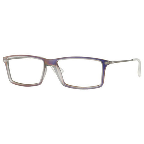 Ray-Ban Square Men's Eyeglasses Iridescent Violet w/Demo Lens RX7021-5498