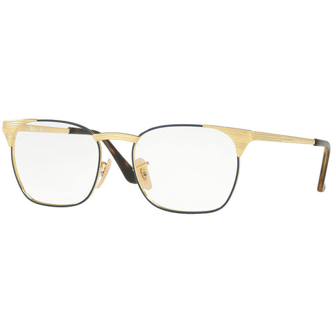 Ray-Ban Men's RX Eyeglasses Gold Blue w/Demo Lens RX6386-2903
