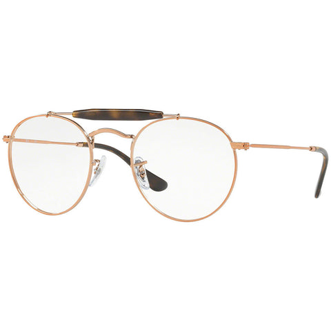 Ray-Ban Round Unisex Eyeglasses Shiny Copper w/Demo Lens RX3747V-2943