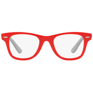 Ray-Ban Junior Square Eyeglasses Red w/Demo Lens RY9066V 3753