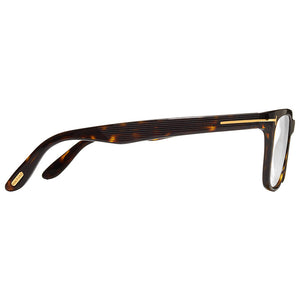 Tom Ford Unisex Square Eyeglasses Demo Lens | Temple View