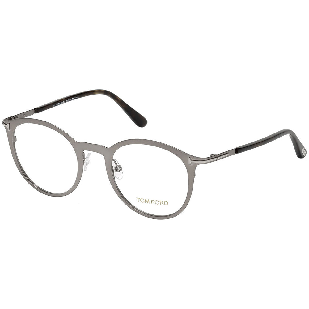 Tom Ford Unisex Eyeglasses Shiny Ruthenium W/Demo Lens FT5465/014