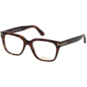 Tom Ford Men's Eyeglasses Red/Havana W/Demo Lens FT5477/054