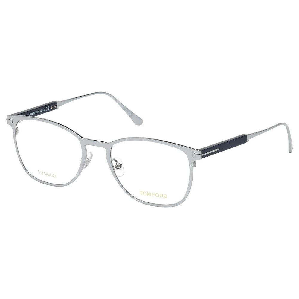 Tom Ford Men's Eyeglasses Shiny Rhodium W/Demo Lens FT5483/018