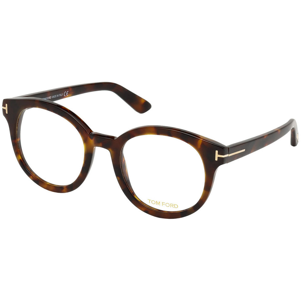 Tom Ford Women's Round Eyeglasses Havana w/Demo Lens FT5491 055