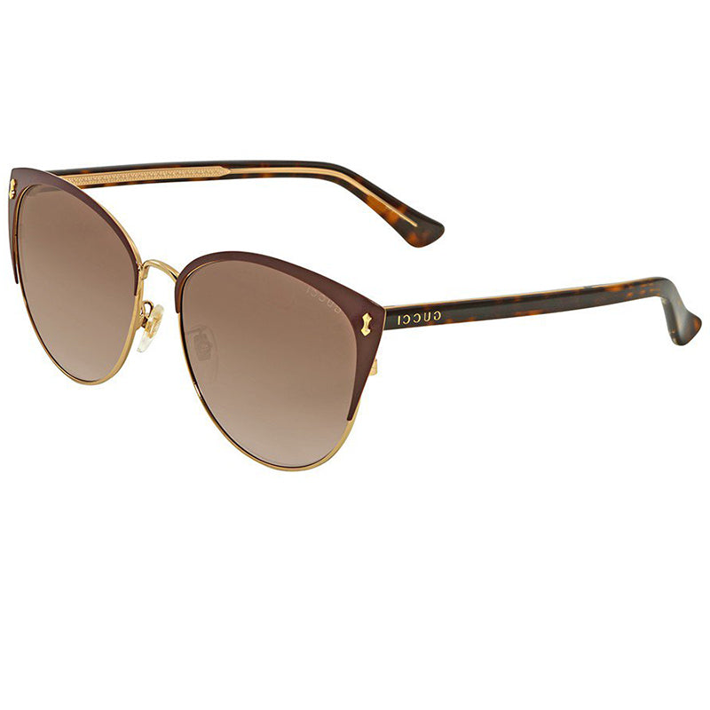 d950f1a345b Gucci Sunglasses Burgundy Havana w Brown Gradient Lens Women GG0197SK-005