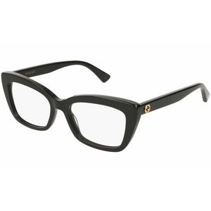 Gucci Women's Eyeglasses Black W/Demo Lens GG0165O 001