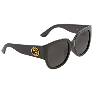 Gucci Sunglasses Black w/Grey Lens Women GG0142SA-001