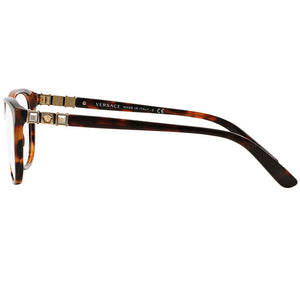 Versace Womens Square Eyeglasses Demo Lens - Side View